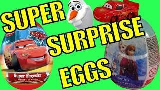 Kinder Surprise Eggs Disney Frozen Surprise Eggs Elsa Princess Cars Spongebob Simpsons Toys