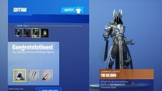 UNLOCKING STAGE 3 SILVER ICE KING in Fortnite Battle Royale