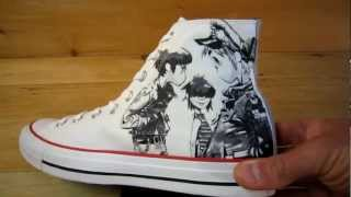 Gorillaz Converse White with 2D