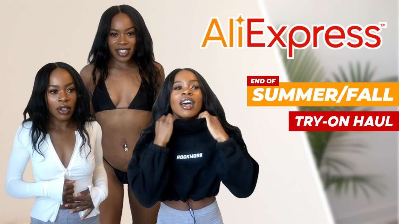 HUGE END OF SUMMER/FALL TRY-ON HAUL! ALIEXRESS | EXPECTATION VS. REALITY