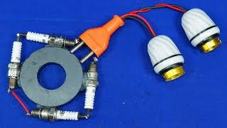 Free Electricity 240V Energy Light LED Bulb Electric Power Generator NEW electronic Experiment