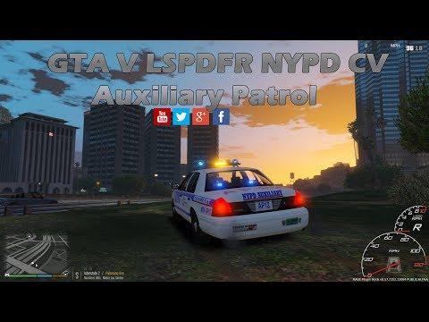GTA V LSPDFR NYPD CV Auxiliary Patrol 🚨