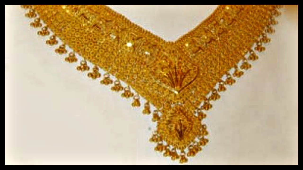Gold Necklace Set In 20 Grams - YouTube