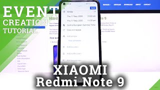 How to Add Event to Calendar in XIAOMI Redmi Note 9 – Add Calendar Notification