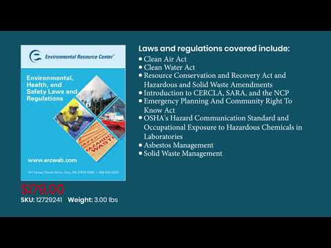 Environmental Health and Safety Laws and Regulations