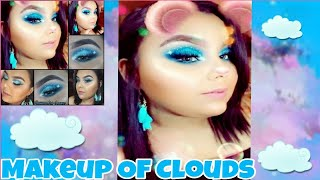 Maquillaje Inspirado En NikkiTutorials Nubes (Clouds)/ Mas Colaboracion Con Zona De Maquillaje