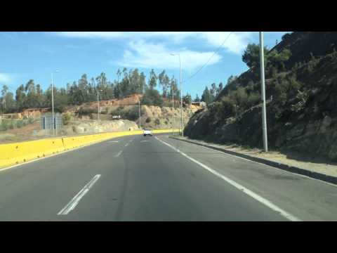 Driving from Santiago to Valparaiso, Chile