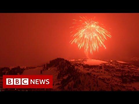 World's Largest Firework Set Off - BBC News