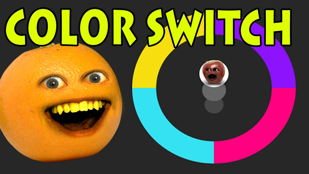 Annoying Orange Plays Color Switch Youtube