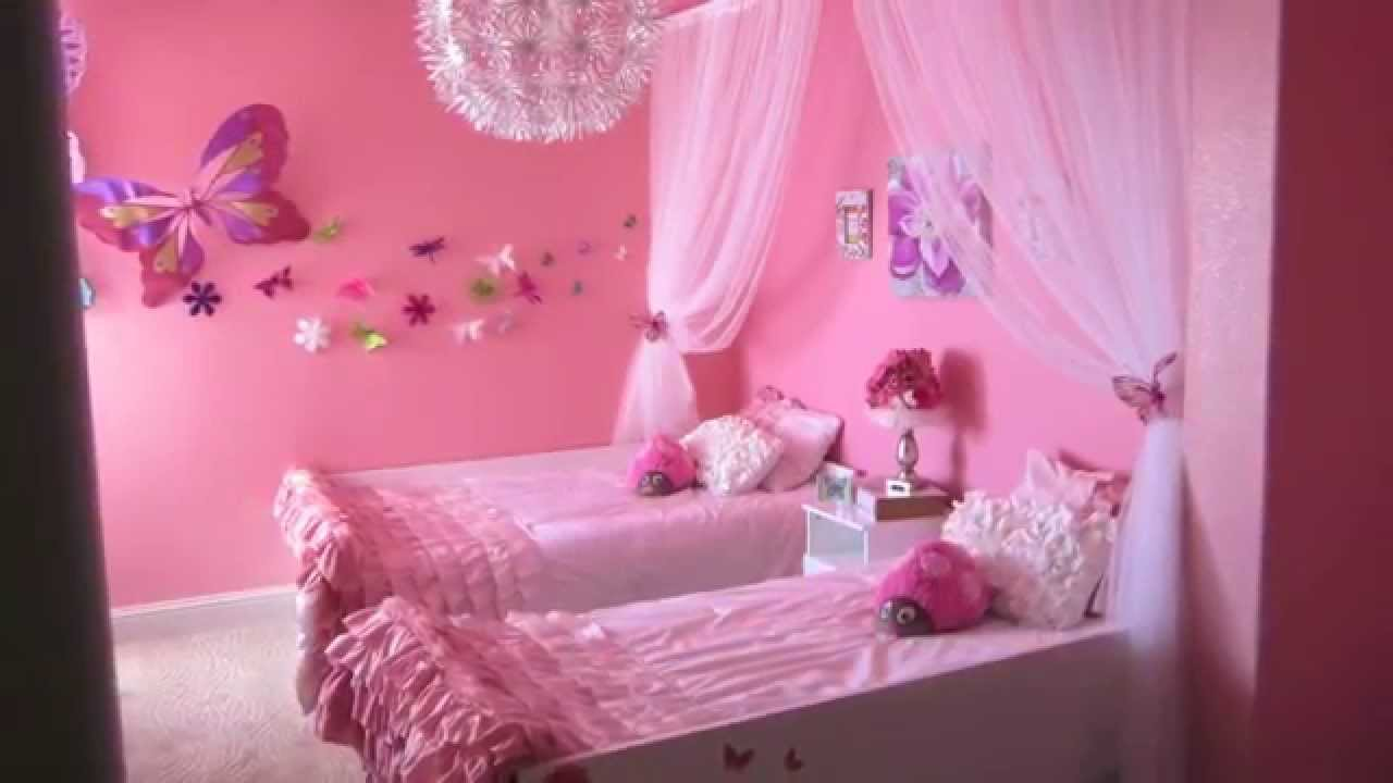 Flowers Amp Butterflies A Pink Bedroom For Two Youtube