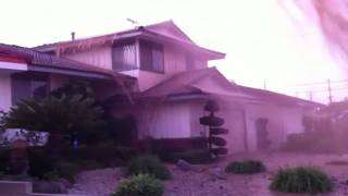 Torrance Water Main Break Spray Dirt & Rocks on House