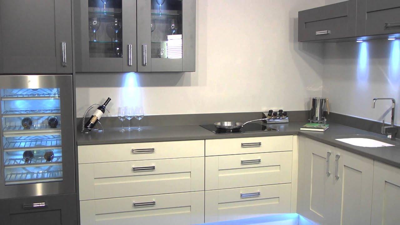 Windsor Shaker Painted Kitchen - Stockpile Kitchens - YouTube