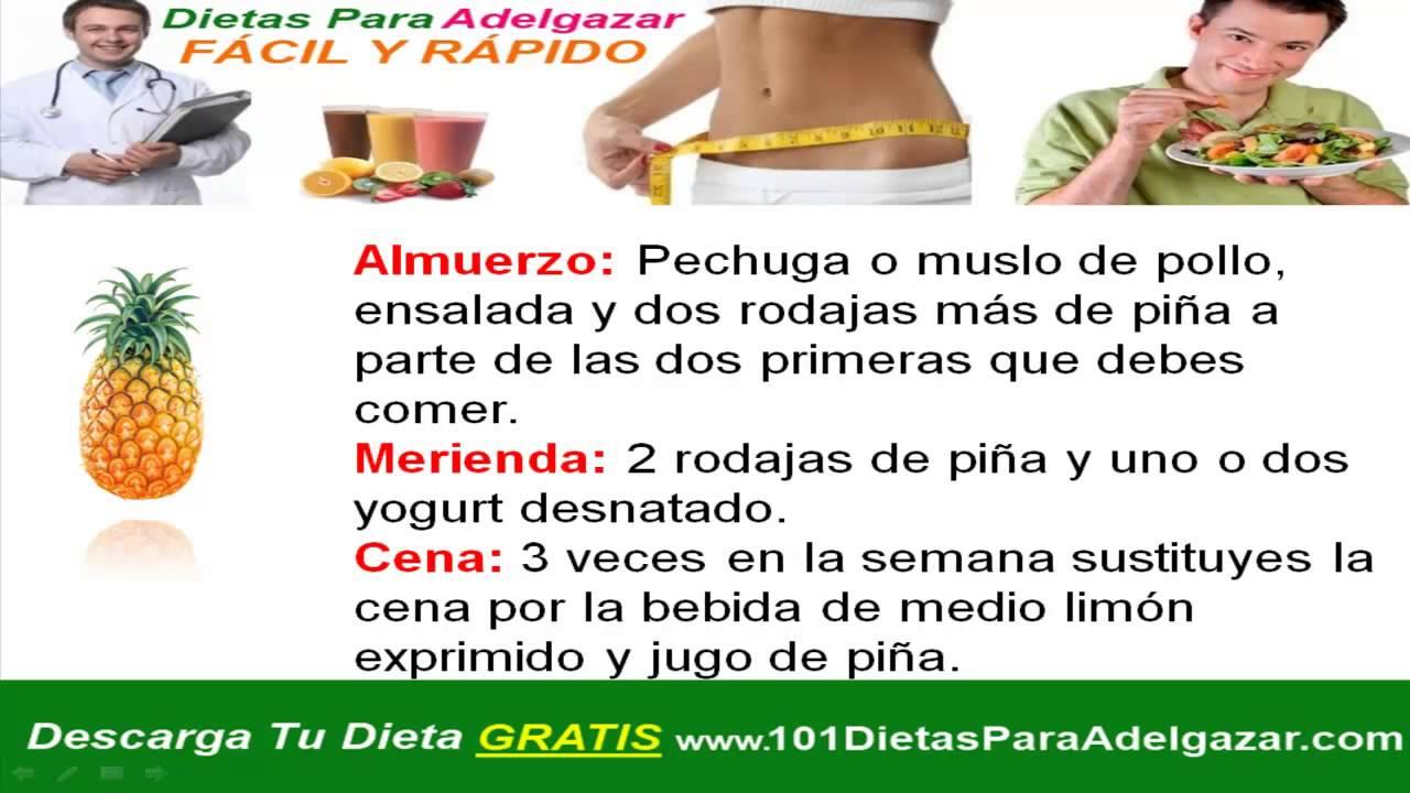 dietas rapidash y efectivas para bajar de peso rapido
