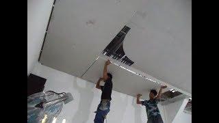 Memasang Plafon gypsum Rangka puring Motip Kolam