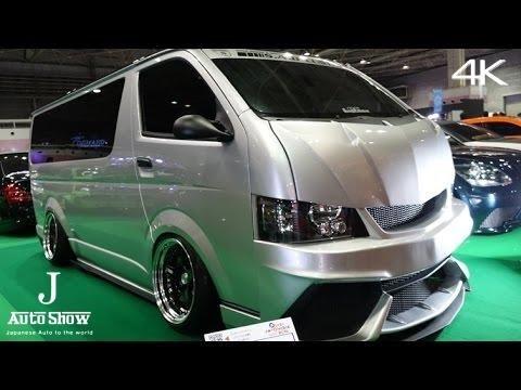 (4K)TOYOTA HIACE 200 Muscle Modified キャンバーハイエースSADカスタム - 大阪オートメッセ2016
