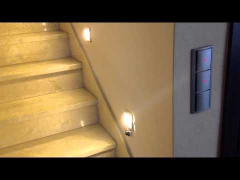 Luz para escalera finalizado youtube for Apliques de led para escaleras