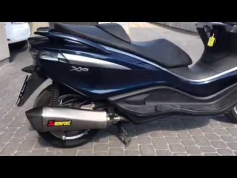 piaggio x10 350 akrapovic youtube. Black Bedroom Furniture Sets. Home Design Ideas