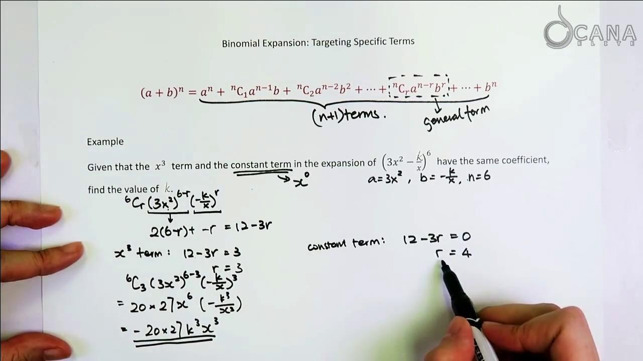 Ib Mathematics Hl Sl Binomial Expansion Youtube