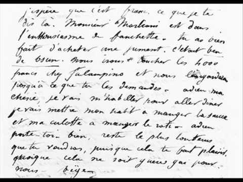 george sand lettre Lettre de George Sand à Alfred de Musset   YouTube george sand lettre