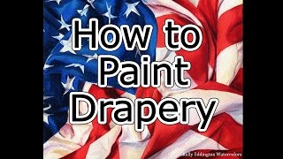 How to Paint Drapery - American Flag