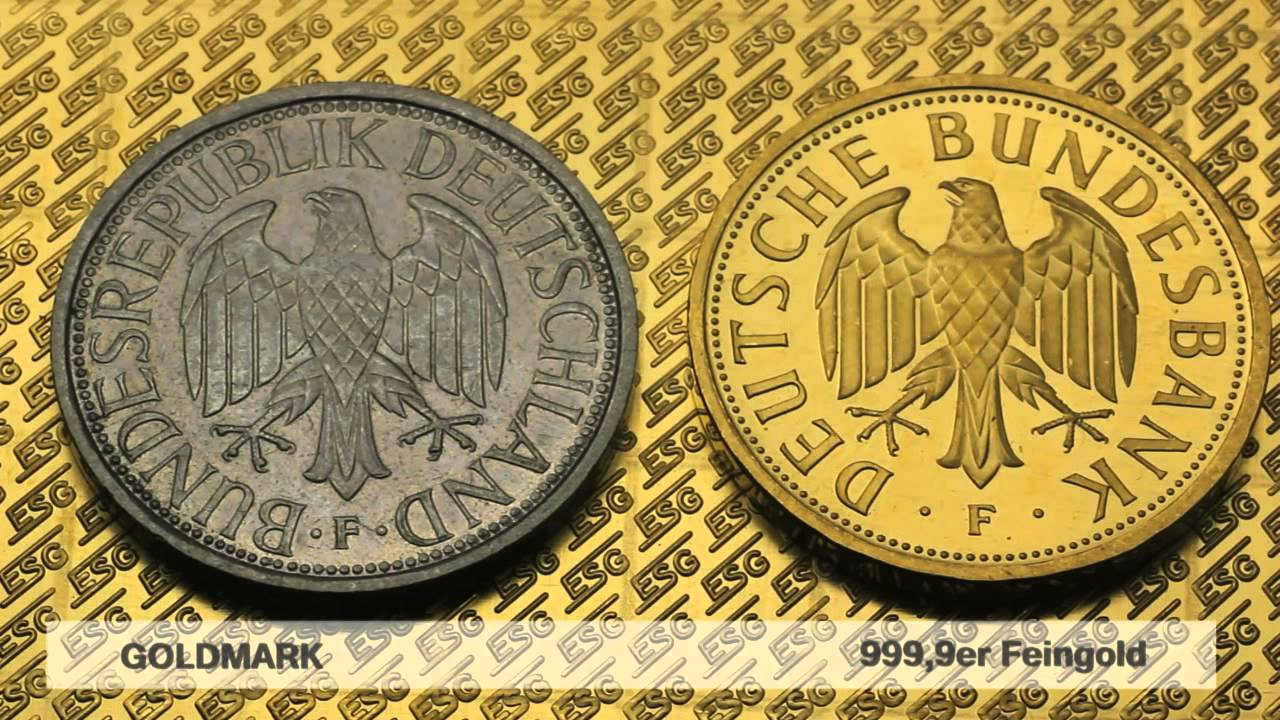 Goldmark Goldmünze Deutsche Mark In Gold Youtube