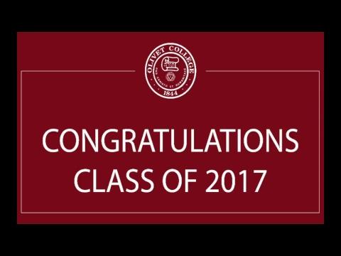 Olivet College Commencement 2017
