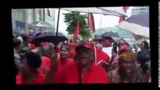 Fitzgerald Hinds Inciting Supporters to Behave Badly