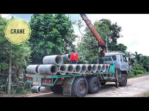 รถเครน 10 ล้อ  Crane Truck วางท่อ ดูเพลินๆ truck thailand