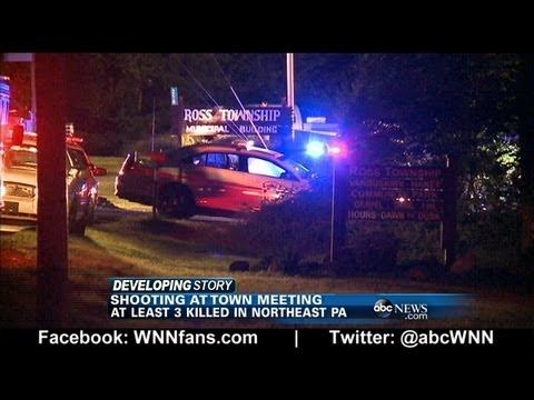Multiple People Shot at Township Meeting, Gunman Arrested