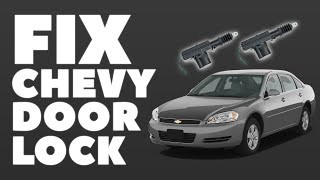 Universal Door Lock Actuator in Chevy Impala $8 Fix