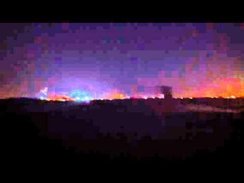 Dubai night view- Ras Al Khor