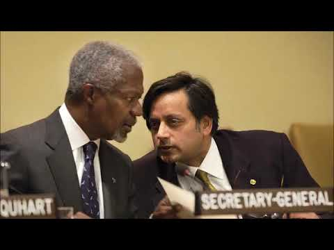 Dr. Tharoor, Former UN Diplomat on