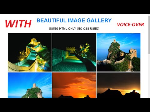 Beautiful Image Gallery Using HTML Only (no CSS Used)| HTML Tutorials