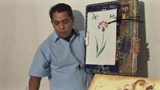 Como Pintar claveles en pincelada para manualidades (pintura decorativa) con Miguel Rincón.