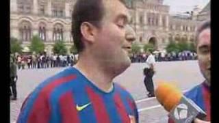 Lorenzo y Antonio en la Plaza Roja de Moscú