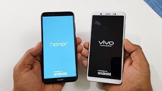Honor 9 Lite vs ViVo V7 Speed Test | Which is Faster !