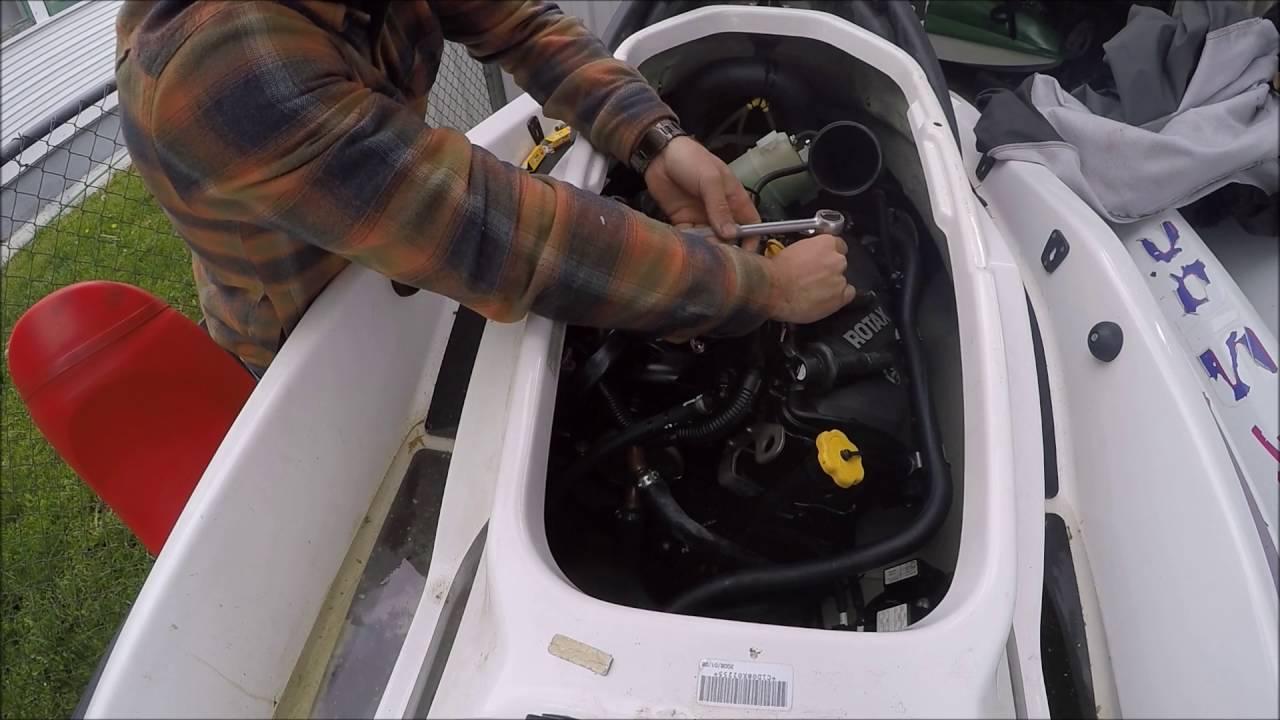 medium resolution of seadoo 4tec spark plug change