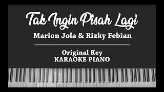 Tak Ingin Pisah Lagi (KARAOKE PIANO COVER) Marion Jola & Rizky Febian