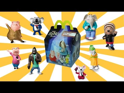 Thumbnail: 8 SING Movie Happy Meal McDonalds Toys | European SING Kids Meal Figures Lucas World Review PART 1