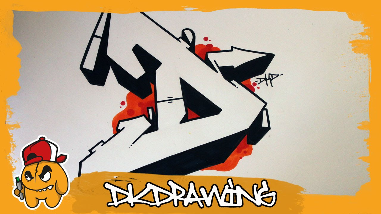 Graffiti Alphabet Tutorial How To Draw Graffiti Letters Letter D