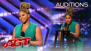 Crystal Powell Will Brighten Your Day With Her Hilarious Stand-Up Comedy - America's Got Talent 2020
