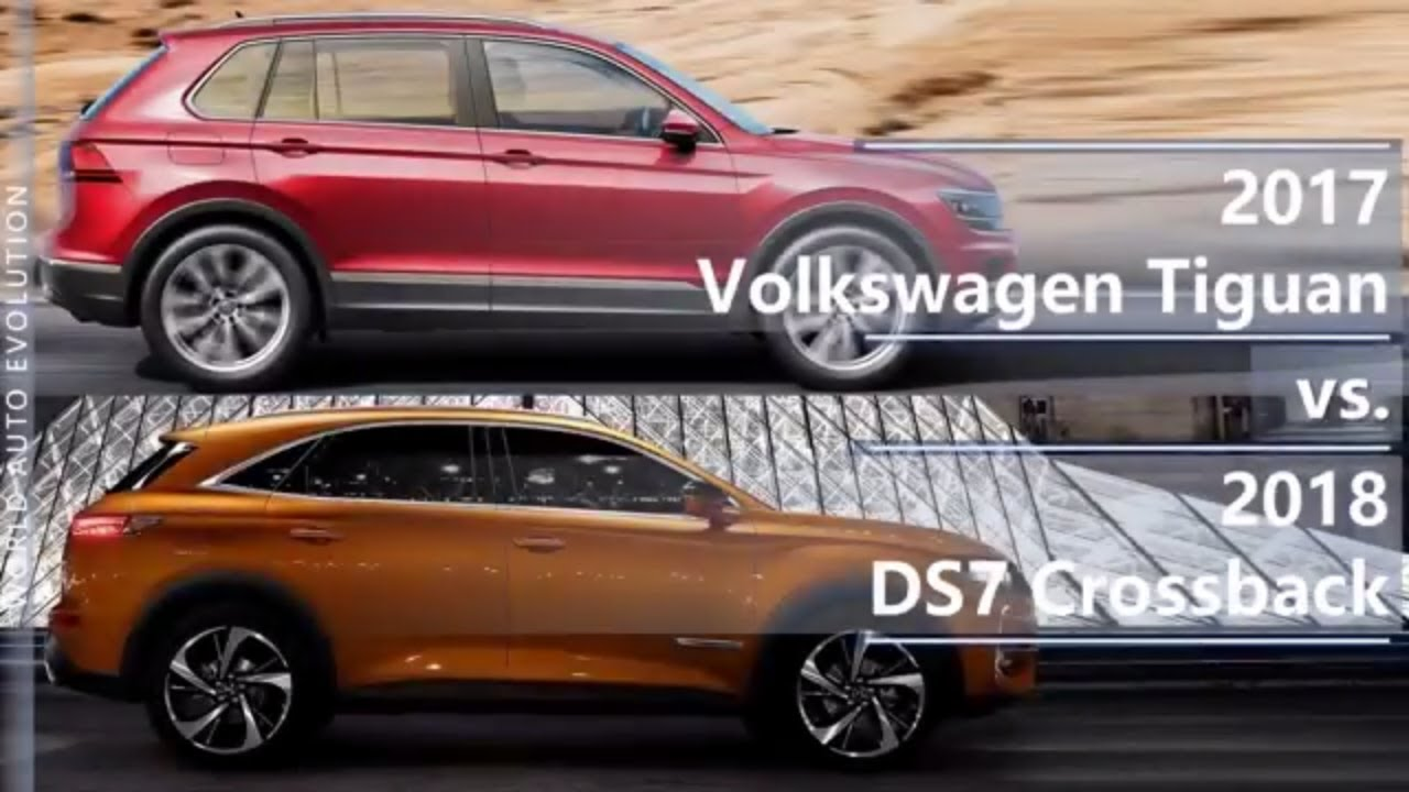 2017 vw tiguan vs 2018 ds7 crossback technical comparison youtube. Black Bedroom Furniture Sets. Home Design Ideas