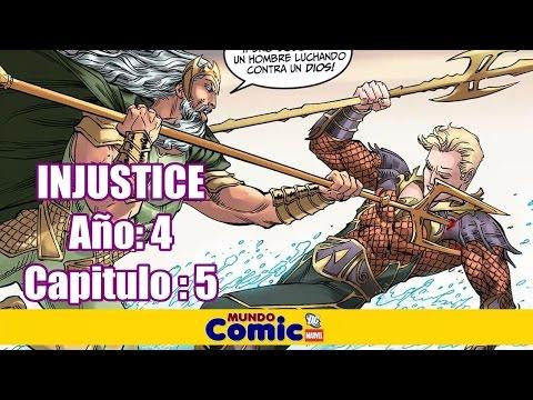 El dia que Aquaman desafió al Dios Poseidon / INJUSTICE Año 4 Capitulo # 5
