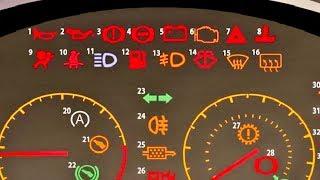 code tableau de bord de voiture - بعض الرموز أو اللمبات التحذيرية الموجودة فى تابلو السيارة