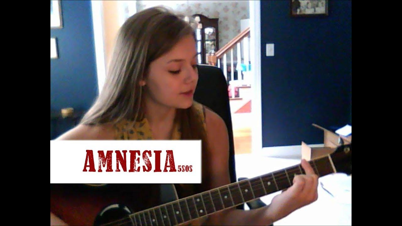 Amnesia- 5SOS Beginning Guitar Tutorial - YouTube