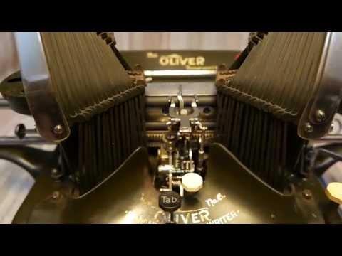 Antique Oliver typewriter. Hungari Budapest 4K