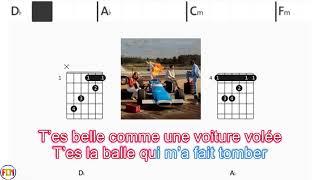 BENJAMIN BIOLAY - Comme une voiture volée - (Chords & Lyrics like a Karaoke) HD