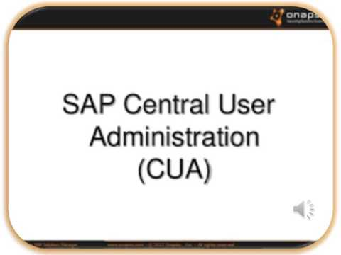 SAP Security #Central User Administrator#