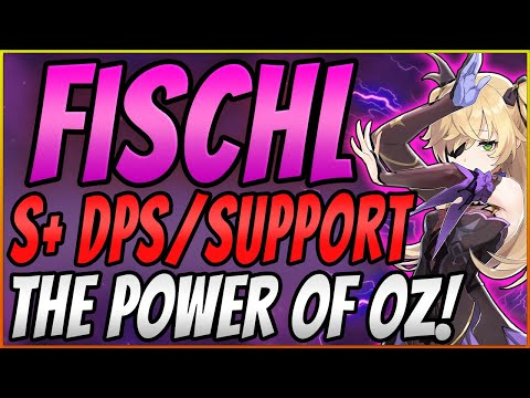 Fischl Character Guide   MAKE OZ GODLY with this S+ Tier DPS & Support Builds   Genshin Impact