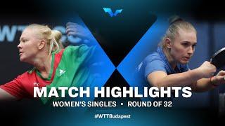 Georgina Pota vs Tatiana Kukulkova | WTT Contender Budapest 2021 (R32)